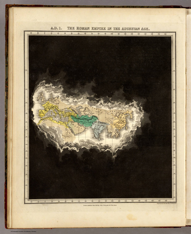 Animated GIF Showing Historical Maps of the Known World from 2348 B.C. to 1828 A.D.