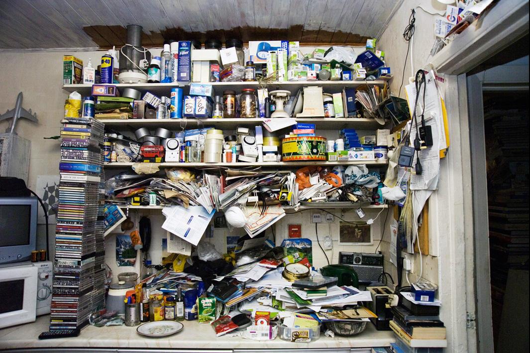Kitchen bookshelves, Essex.