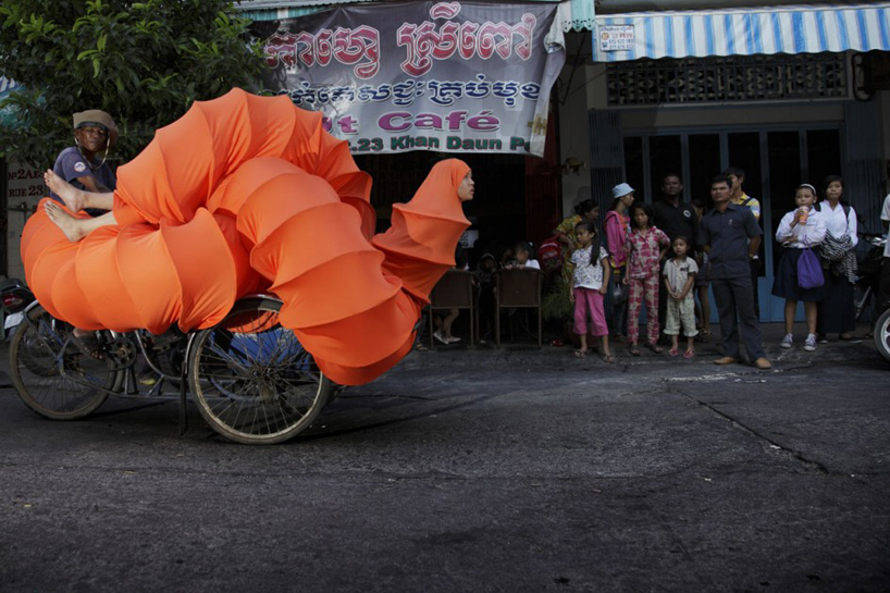 The Buddhist Bug Project, Artist Wears Extremely Long Bug Costume To Explore Her Cambodian Heritage