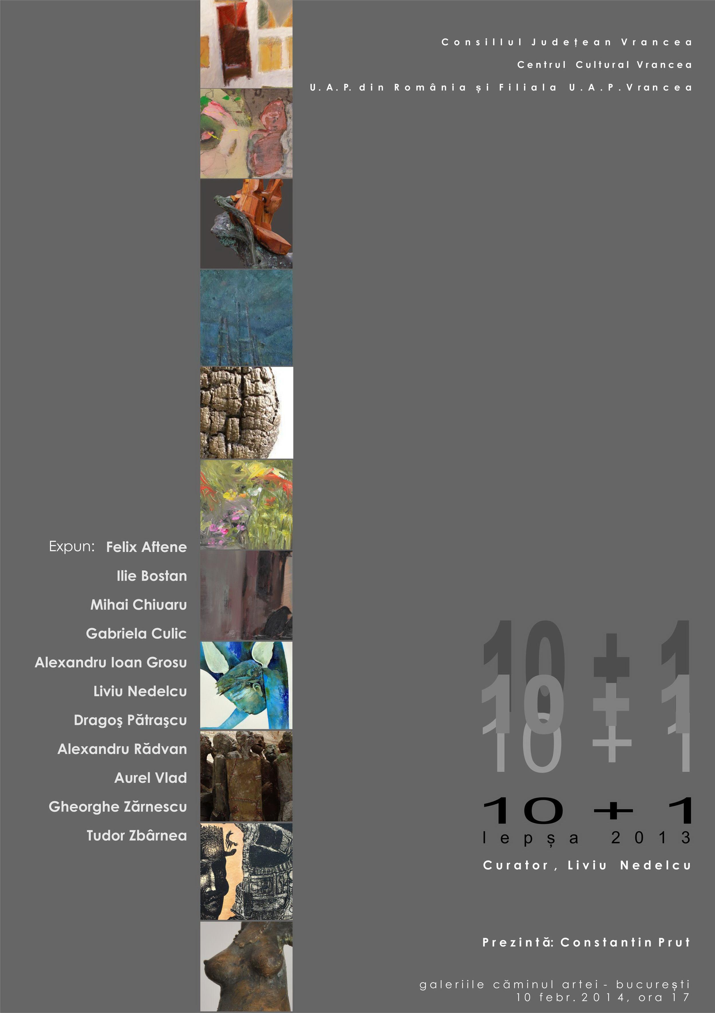 Zece plus unu – Tabăra Lepşa 2013 @ Galeriile Căminul Artei, București