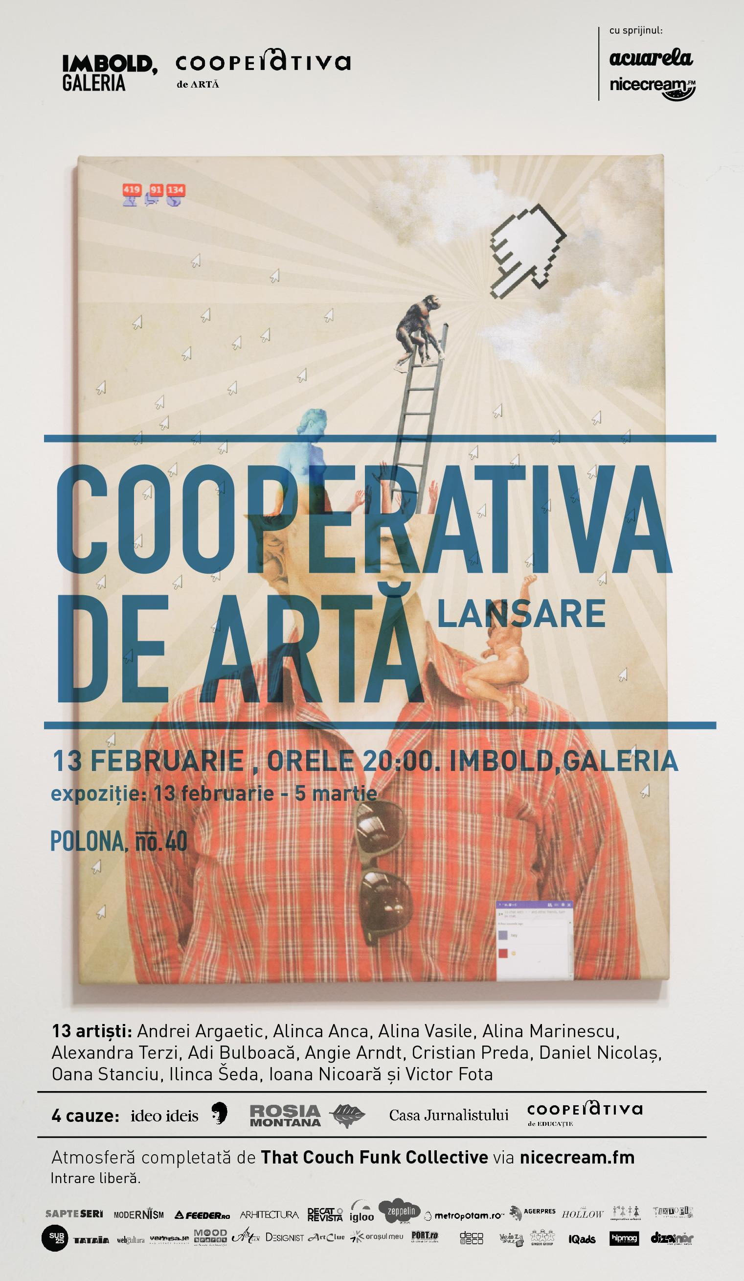 Lansare Cooperativa de Artă la Imbold, Galeria, București