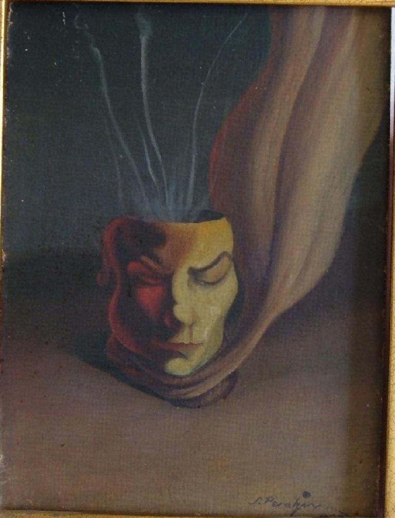 Portrait of Gherasim Luca - Artist Jules Perahim (1932)