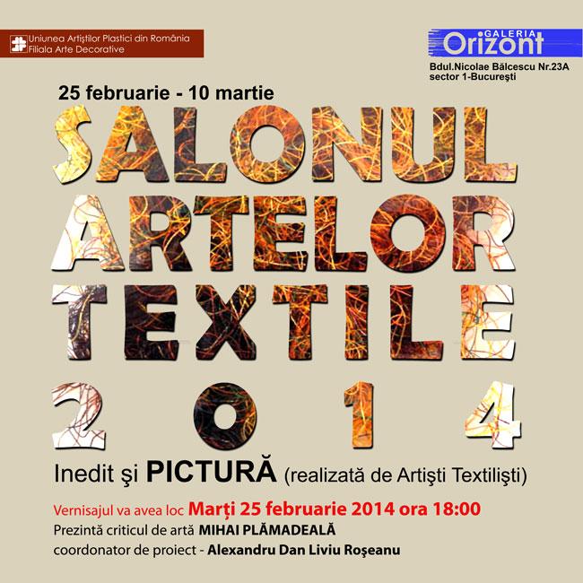 SALONUL ARTELOR TEXTILE – 2014 @ Galeria Orizont, București