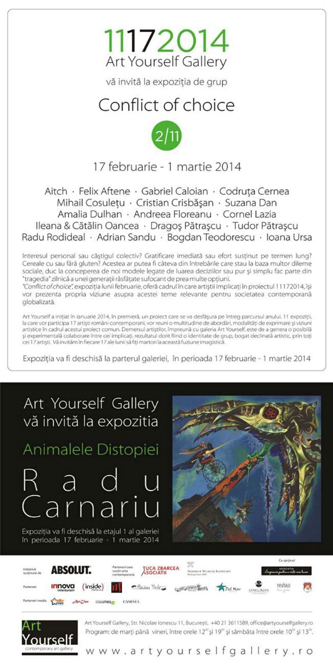 """""""Conflict of choice"""" @ Art Yourself Gallery, Bucureşti"""
