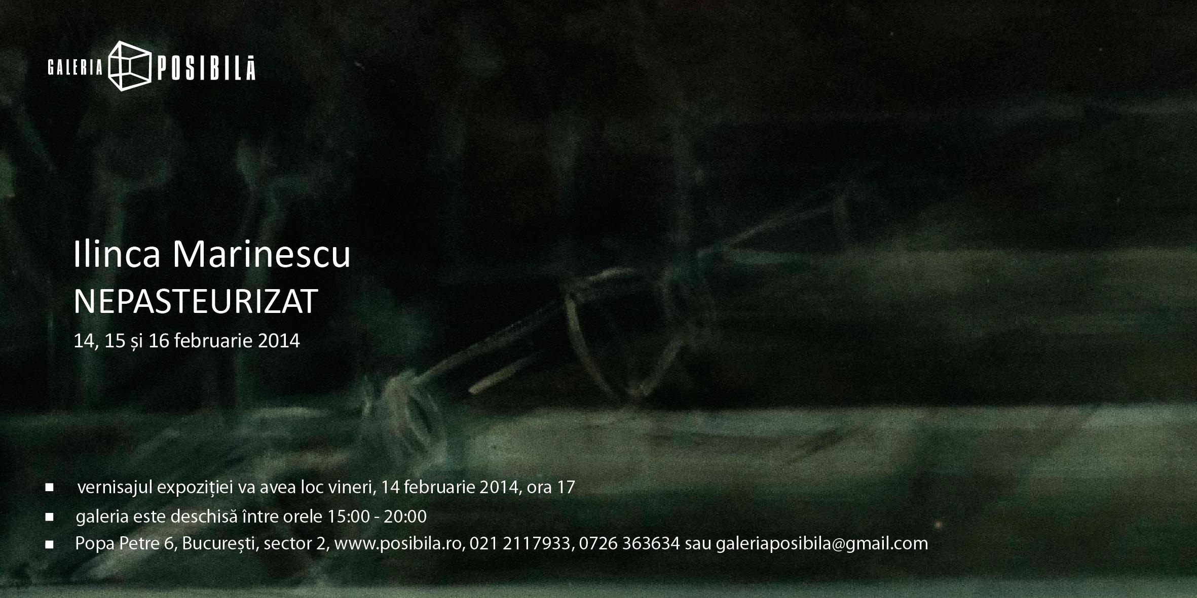 """Ilinca Marinescu """"Nepasteurizat"""" @ Galeria Posibilă, București"""