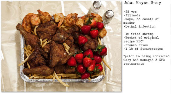The Last Meals Of Death Row Inmates Documented By Henry Hargreaves