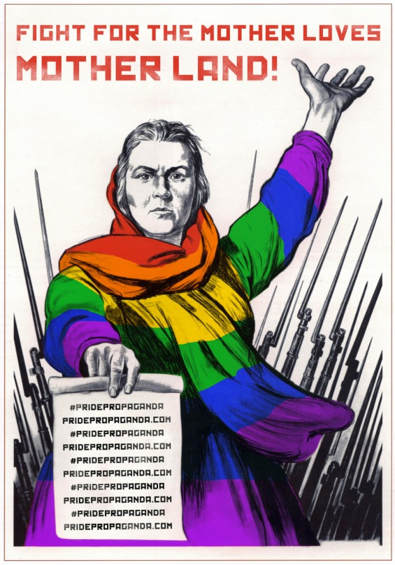 Russian Propaganda Posters Reimagined As Pro-LGBT Campaign