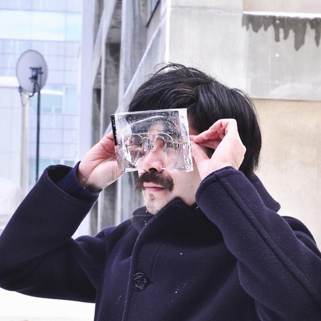 Ice Glasses, Impractical But Humorous Eyeglasses Encased in Ice