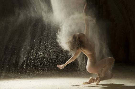 Ludovic Florent's Mesmerizing Photoseries Of Nude Dancers Engulfed In Dust