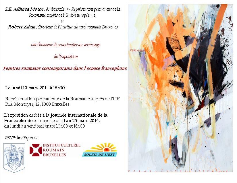 Vingt peintres roumains mettent la francophonie à l'honneur à Bruxelles