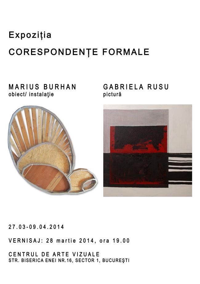 """Gabriela Rusu și Marius Burhan, """"Corespondențe formale"""" @ Centrul Artelor Vizuale, București"""
