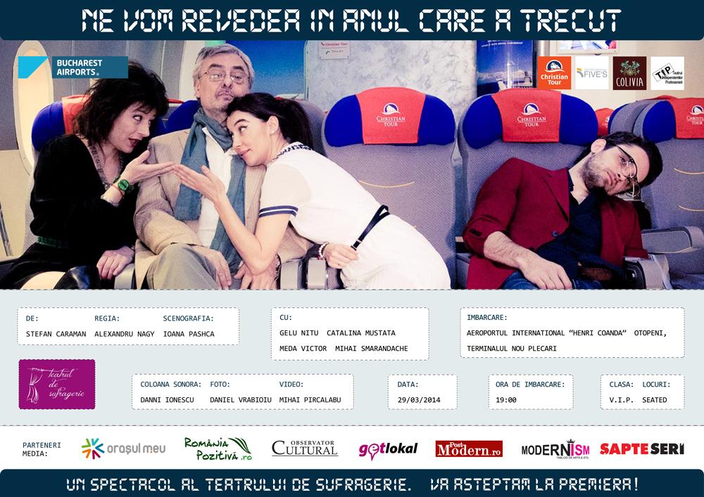 Premiera primului spectacol de teatru jucat într-un aeroport din România
