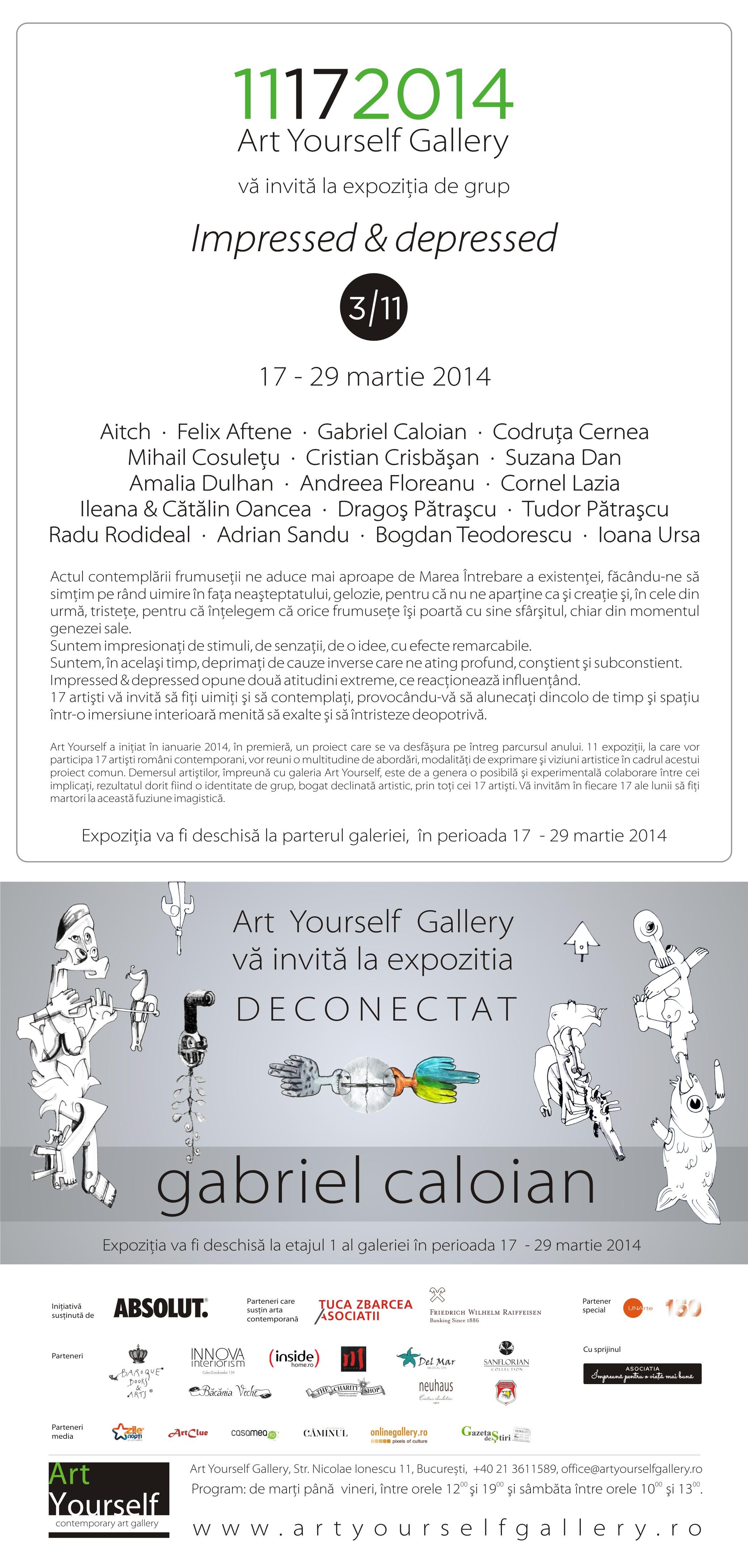 """""""Impressed & Depressed"""" @ Art Yourself Gallery, București"""
