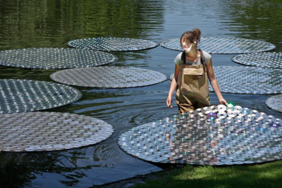 Bruce Munro's Creates Massive Outdoor Installations With Millions Of Compact Discs
