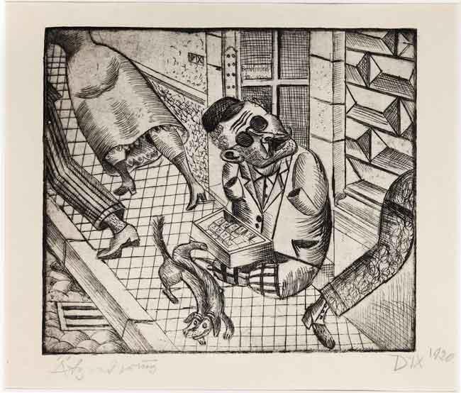 Otto-Dix---Vanzator-de-chibrituri,-1920