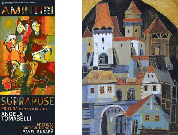 """Angela Tomaselli """"Amintiri suprapuse"""" @ Galeria de Artă """"Forma"""" din Deva"""