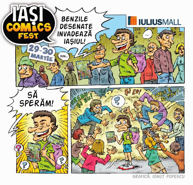Iaşi ComicsFest: Benzile desenate invadează Iaşiul