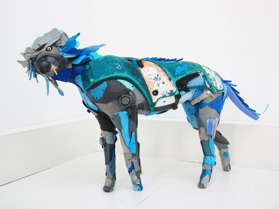 Animal Sculptures Created Out Of Plastic Beach Litter