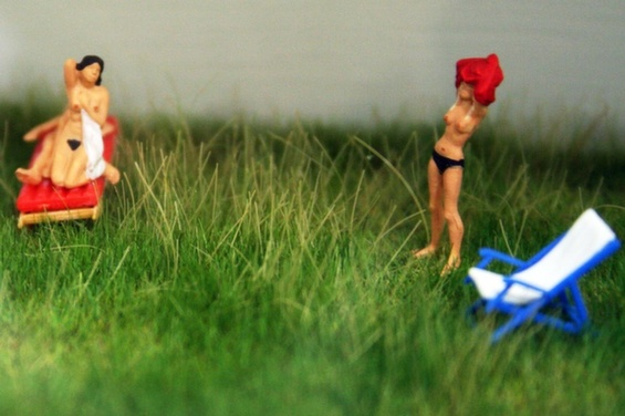 Lisa Swerllng's Tiny People With Pubic Hair Make Bold Emotional Statements