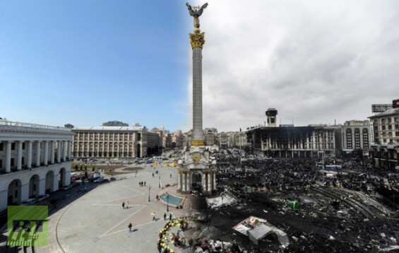 Terrifying Images Of Ukraine Before And After The Recent Riots