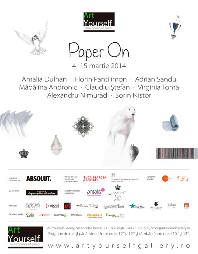 """Paper On"" @ Art Yourself Gallery, București"