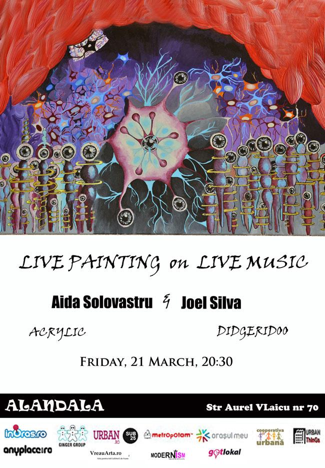 Live painting pe muzică de didgeridoo @ Alandala, București