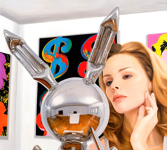 Marc Dennis' Hyper-Realistic Paintings Of Viewers Gazing At Famous Art