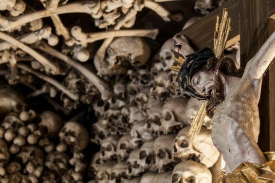 Gorgeously Creepy Chapel Made Of Thousands Of Human Bones