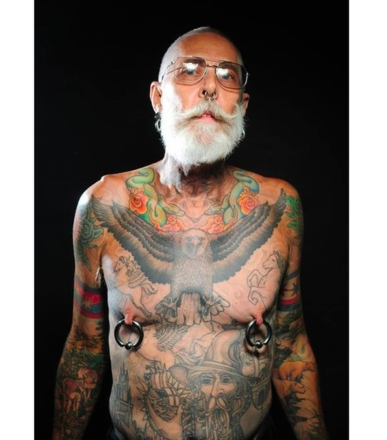 Tattooed Seniors Show Off Their Inked Bodies