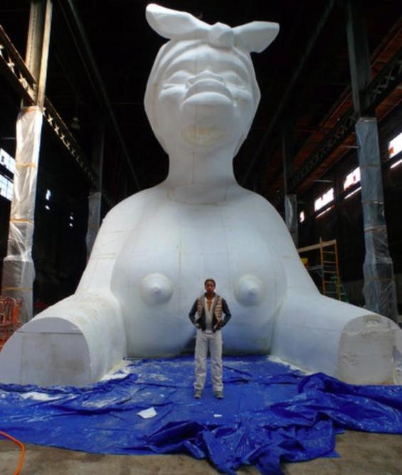 Kara Walker's Gigantic Sugar-Coated Female Sphinx Makes A Powerful Statement