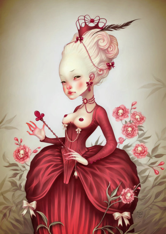 Disturbing and Sweet Paintings Look Like A Dark Alice In Wonderland