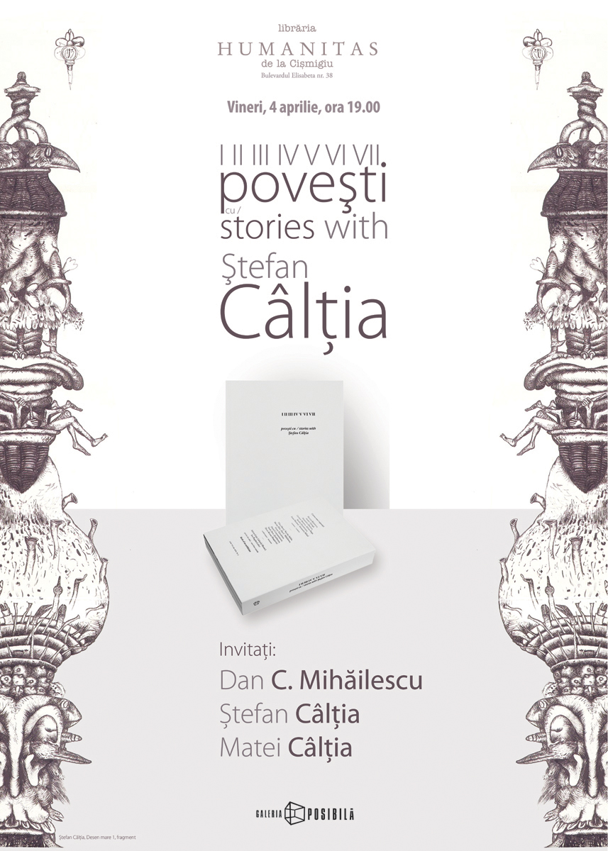 """Lansarea carții """"I II III IV V VI VII poveşti cu Ştefan Cȃlţia"""" în librării"""