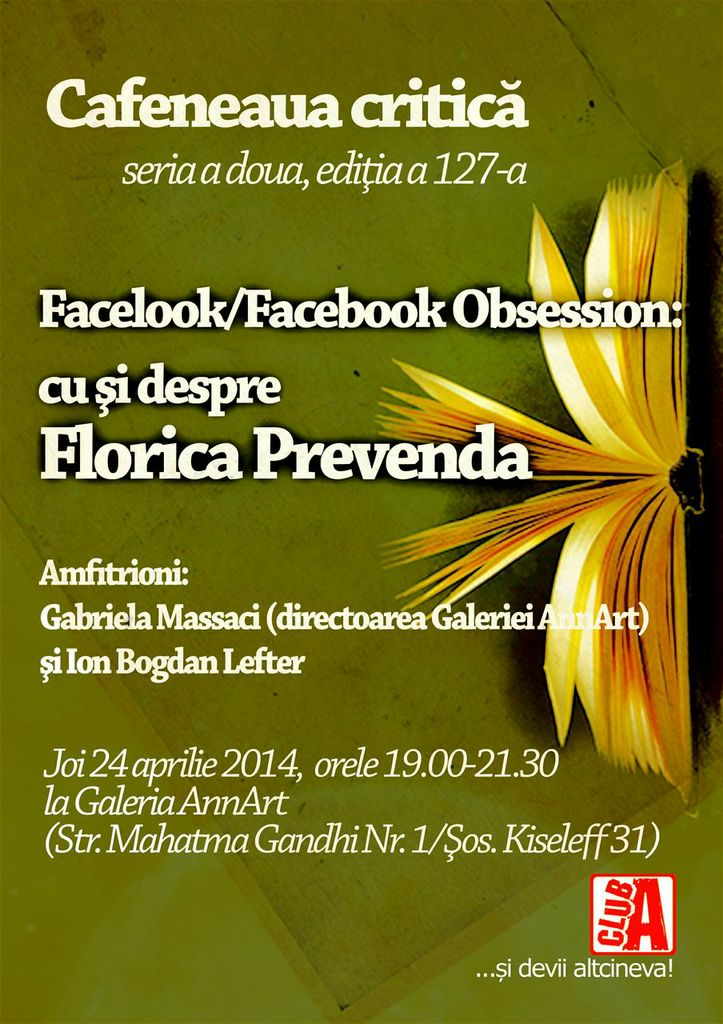Florica Prevenda @ Cafeneaua critică