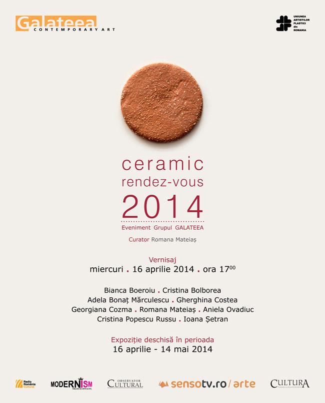 """""""Ceramic rendez-vous"""" 2014 @ Galeria Galateea, București"""