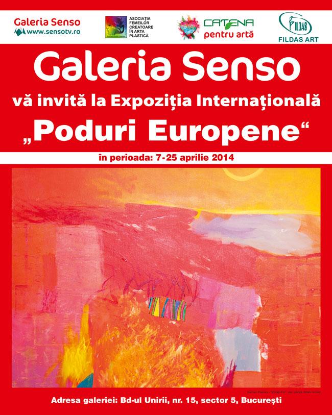 """Expoziţia Internaţională de Artă Plastică Feminină Contemporană """"Poduri Europene"""", ediţia a X-a @ Galeria Senso, București"""