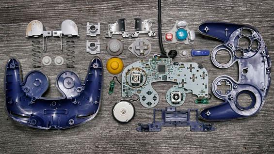Brandon Edgar Allen Neatly Deconstructs Well-Worn Video Game Controllers