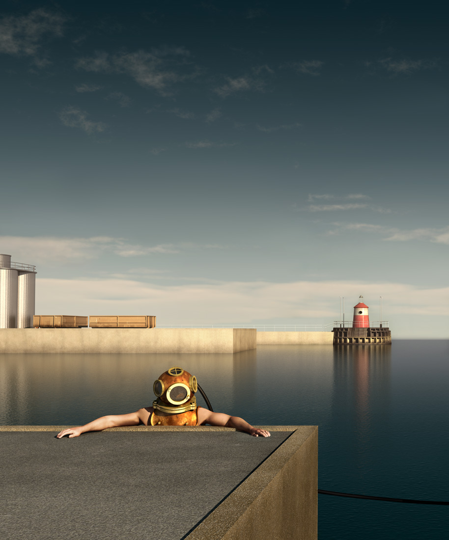 The harbour at 5 pm - no 3 floej 3 - ed 3 145 x 120 cm - ed 12 60 x 50 cm - computer animated image - lambda print 2013