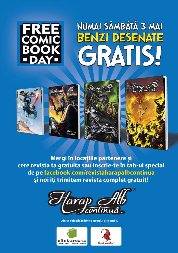FreeComicBookDay și Harap Alb continuă