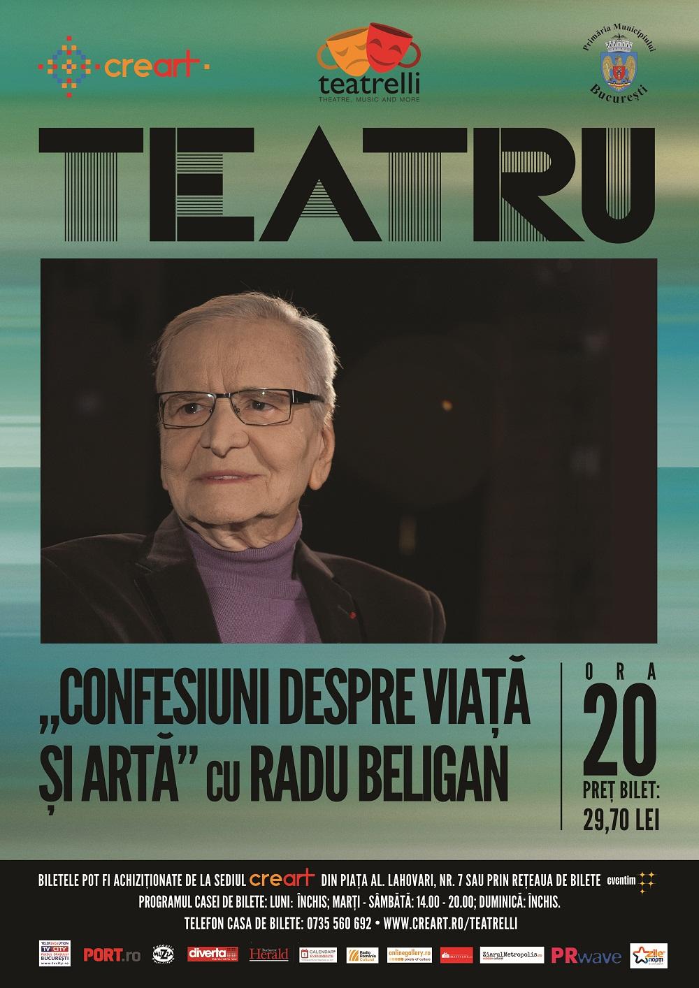 Vive la vie bohème! Maestrul Radu Beligan la Teatrelli @ Creart București