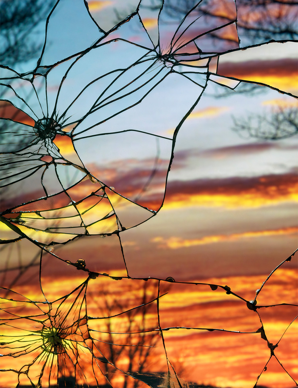 Photographs Of Sunsets Look Like Luminous Stained Glass