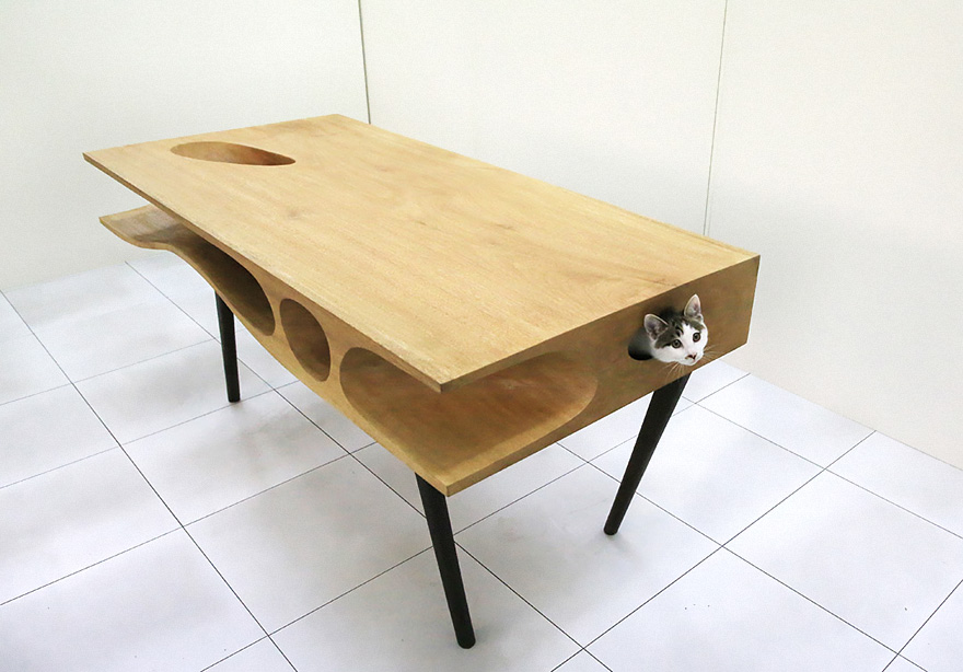CATable: Shared Table Lets Cats Play While Humans Work