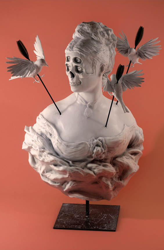 Hannes Hummel's Surreal Busts Remix The Conventional With The Strange