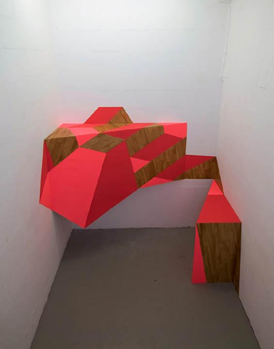 Henriëtte van 't Hoog's Geometric Trompe L'oeil Installations