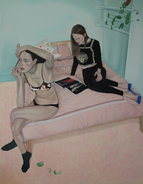 Tristan Pigott's Paintings Capture Social Awkwardness And The Male Gaze
