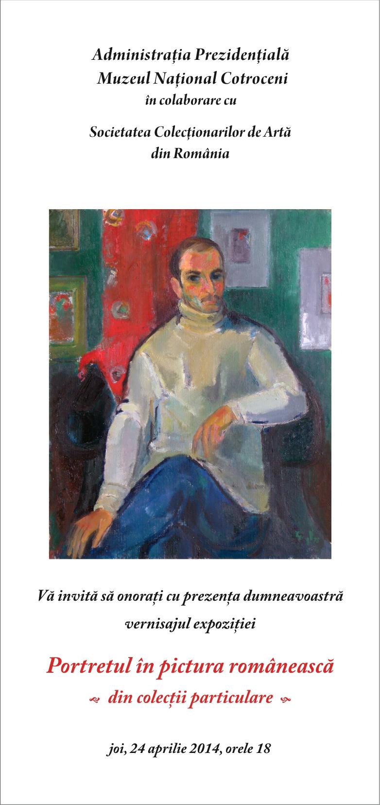 Portretul în pictura românească din colecţii particulare la Muzeul Naţional Cotroceni
