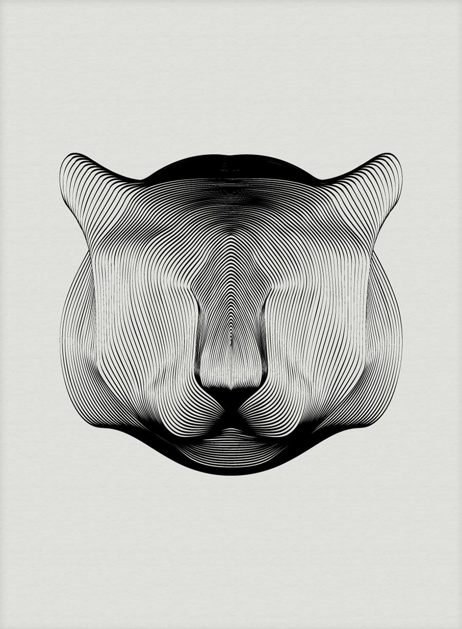 Andrea Minini's Minimally Elegant Animal Illustrations