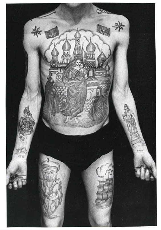 Vintage Photographs of Russian Prisoners Showcase Their Coded Tattoos