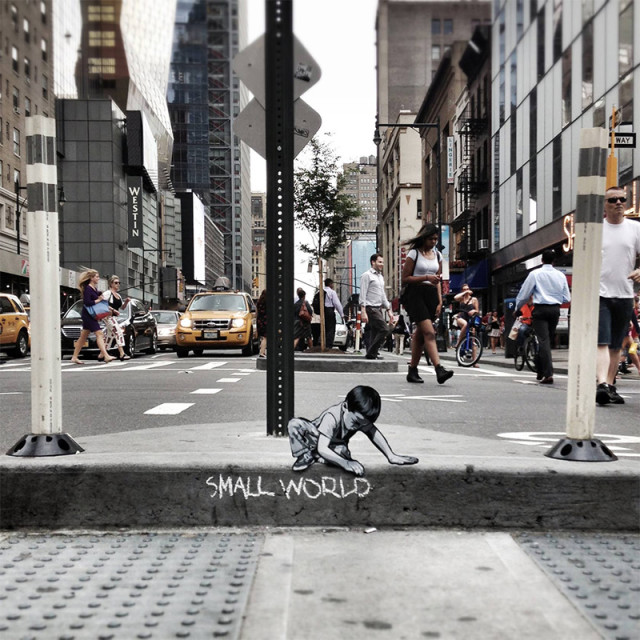 Street Art Installations Featuring Tiny Cutout Figures