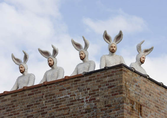 Alex Podesta's Life-Sized Sculptures Of Men Dressed In Bunny Suits