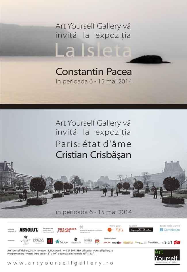 """Constantin Pacea """"La Isleta"""" şi Cristian Crisbăşan """"Paris: état d'âme"""" @ Art Yourself Gallery, București"""